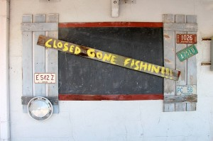 Closed gone fishing