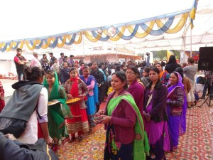 Yatris arrive in Deoria to complete idea validation.