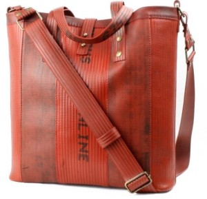 The Tooley Tote, a handbag made from reclaimed British fire-hose