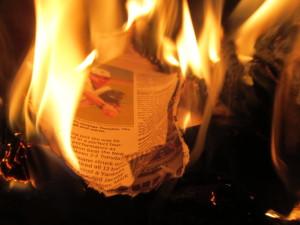 A warming fire