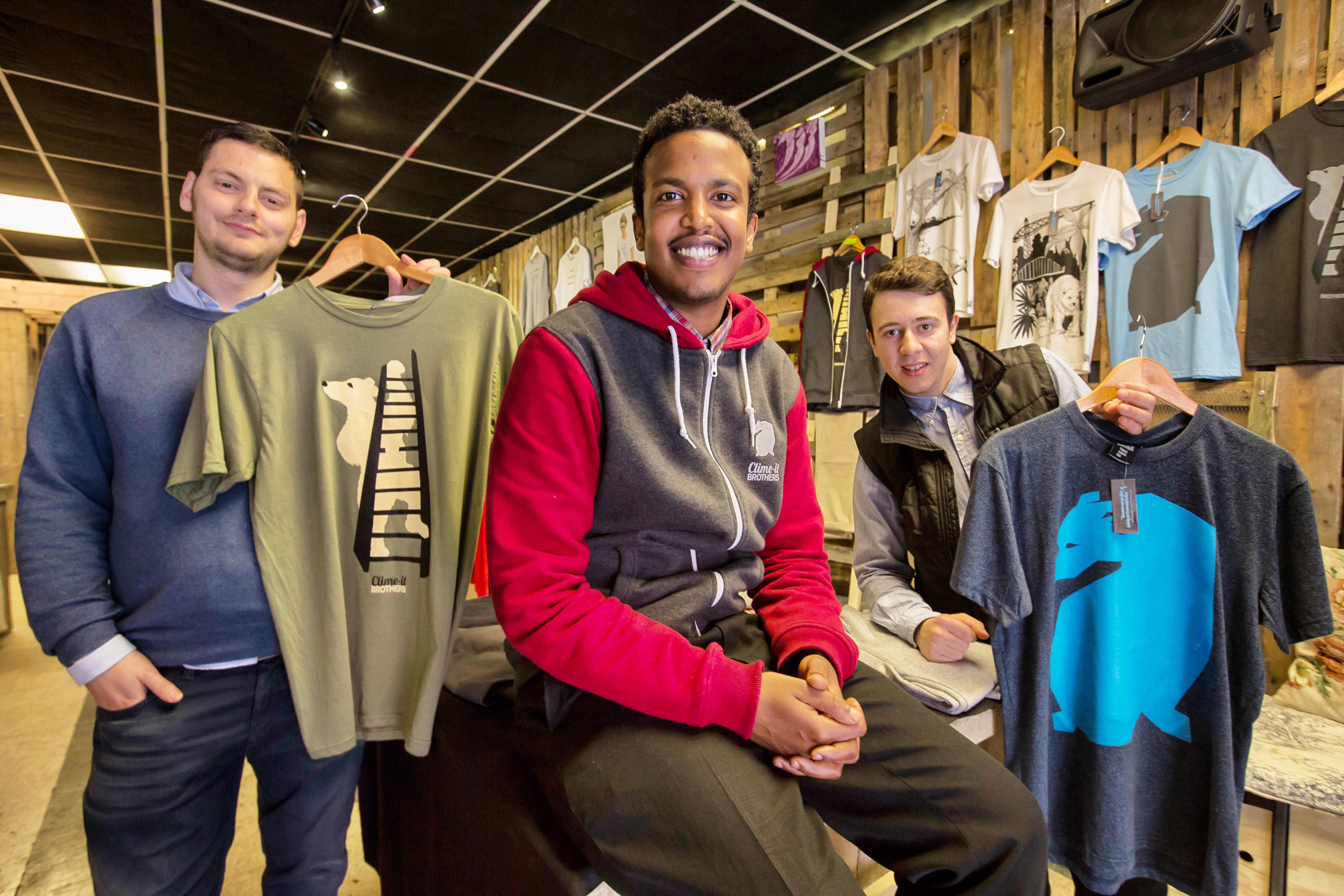 social entrepreneurs, Mubarak Mohamud at his shop