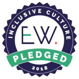 We've pledged stamp for the EW Inclusive Culture Pledge 2018