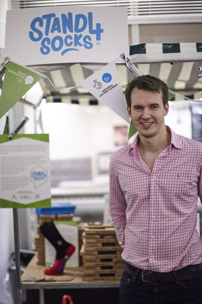 Josh Turner at Social Entrepreneur of the Year Award in 2017