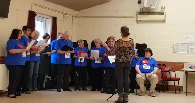 Singing for Lung Health Colchester group in practice