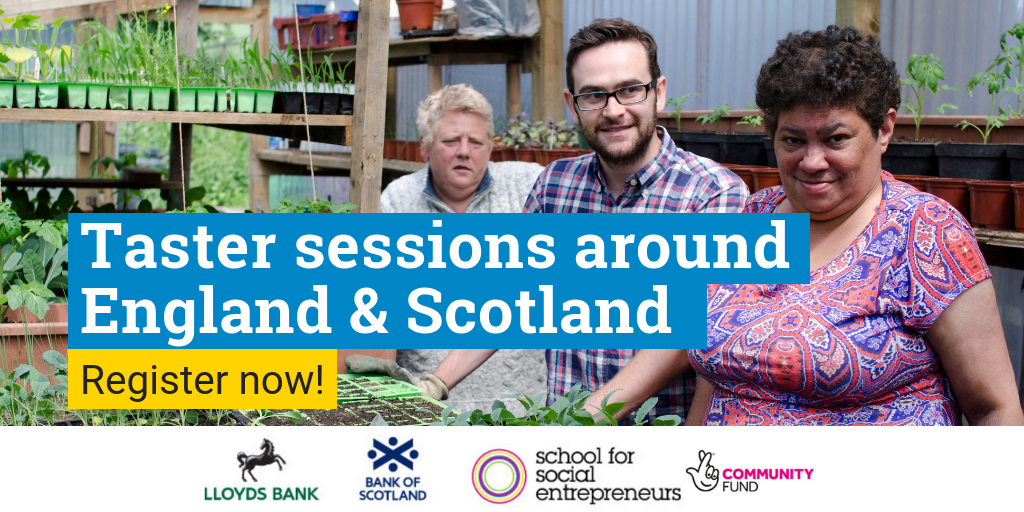 Taster sessions for the Lloyds Bank and Bank of Scotland Social Entrepreneurs Programme