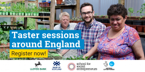 Taster session for the Lloyds Bank and Bank of Scotland Social Entrepreneurs Programme