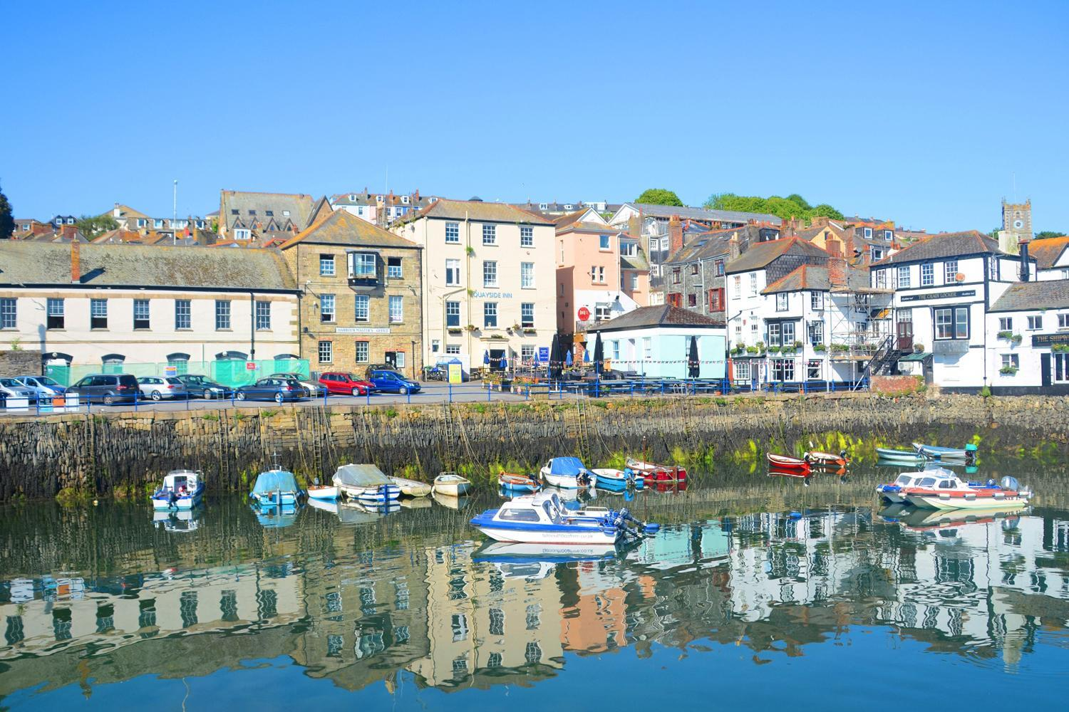 Photo of sunny Falmouth, Cornwall. Copyright: Evening Standard