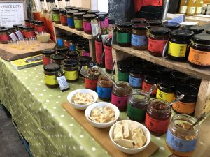 Photo of Sticky Business products - part of Scotswood Garden. It sells preserves like jams and chutneys.