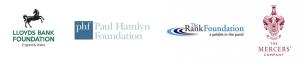 Logos: Paul Hamlyn Foundation, Rank Foundation, Mercers Company