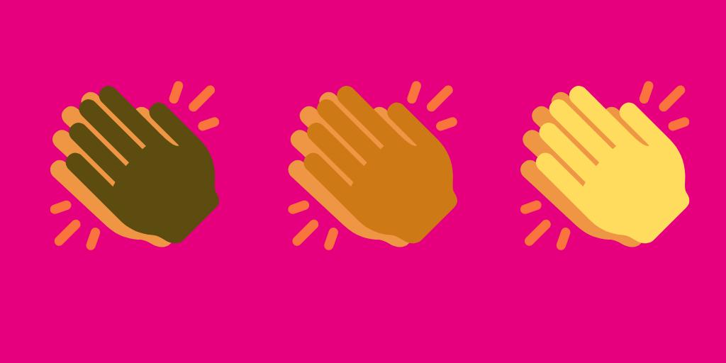 Three emoji handclaps