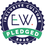 Logo for the EW inclusive cultures pledge