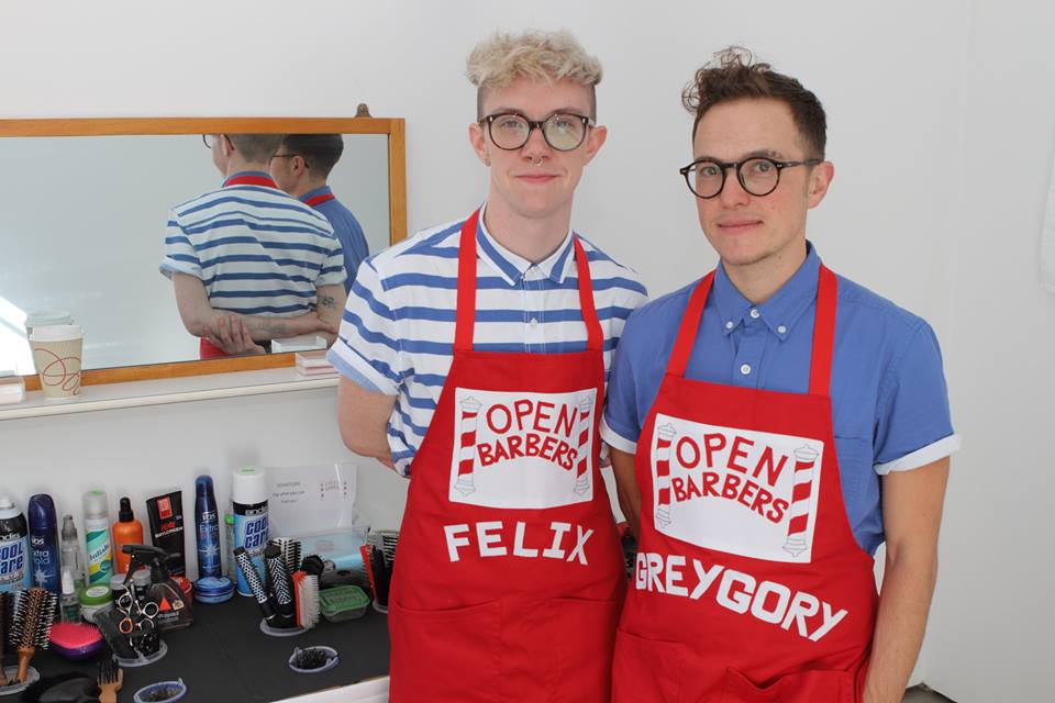 Felix (left) and Greygory (right) of Open Barbers