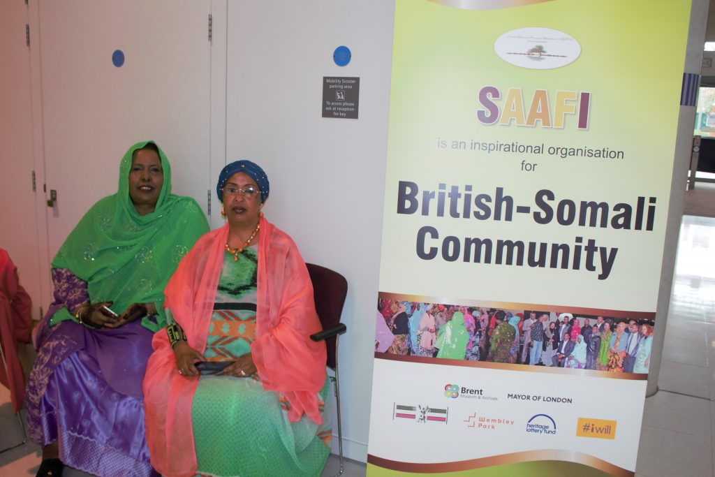 SAAFI founders Rhoda on the right and Hodan on the left and banner