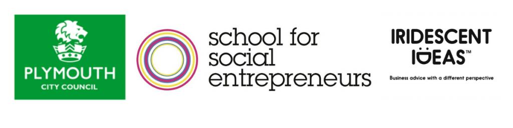 Logos [START]social delivery partnersfor School for social entrepreneurs, Plymouth city council and Iridescent ideas